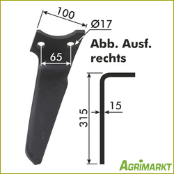 Neu ! Other 3 X Original Rabe-kg-30 Rechts Kreiselmesser